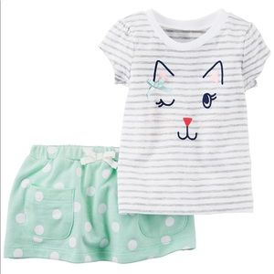 Carters newborn kitty cat outfit set